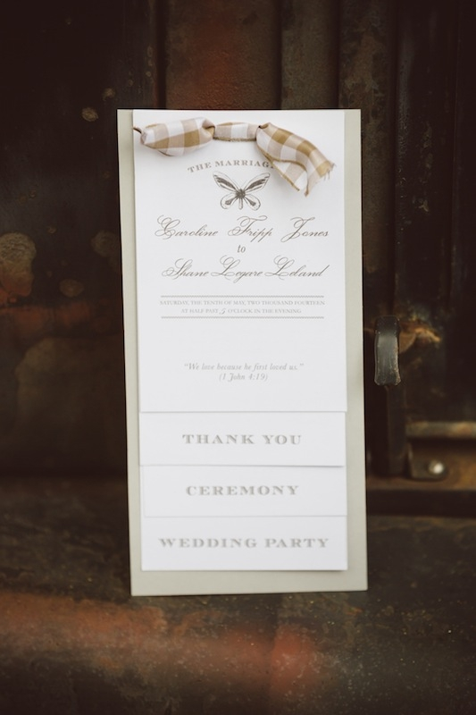Stationery by Printing Associates. Image by Amelia + Dan Photography.