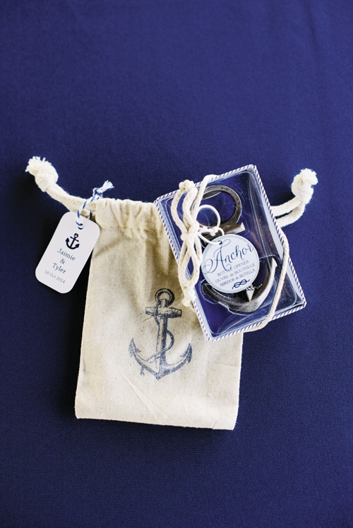 ANCHORS AWAY: Find anchor bottle opener favors like these at Target ($27 for a dozen).