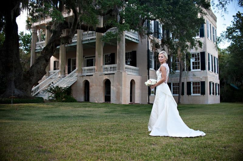 Bridal gown by Lela Rose. Bouquet by HB Stems. Hair by Bangs Salon. Makeup by Drisana McDaniel. Image by Kelli Boyd Photography. Private residence.