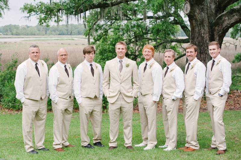 Groom and groomsmen attire by Men's Wearhouse. Image by Britt Croft Photography.