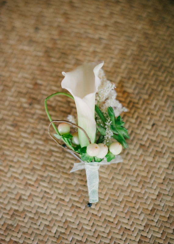 Boutonniere by First Bloom of Charleston. Image by Britt Croft Photography.