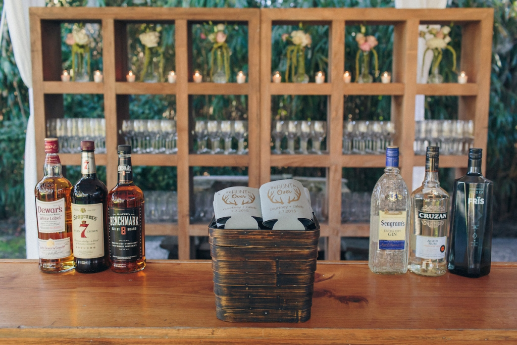 Bar service by MIX. Rentals by Snyder Events and EventWorks. Image by Richard Bell Weddings at Magnolia Plantation & Gardens.