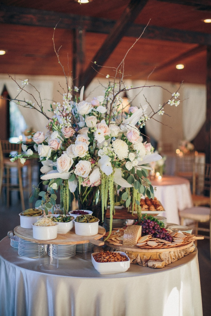 Catering by MOSAIC Catering & Events. Wedding design and reception florals by Engaging Events. Image by Richard Bell Weddings at Magnolia Plantation & Gardens.