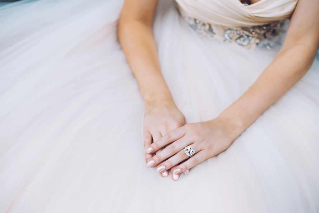 Ring from Kiawah Fine Jewelry. Gown by Lazaro from Gown Boutique of Charleston. Image by Monika Gauthier Photography & Design.