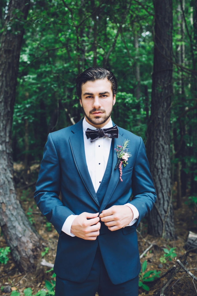 Menswear from David's Tuxedos. Bow tie from Wickham House (Etsy). Boutonnière by Anna Bella Florals. Image by Monika Gauthier Photography & Design at The Stables at Boals Farm.