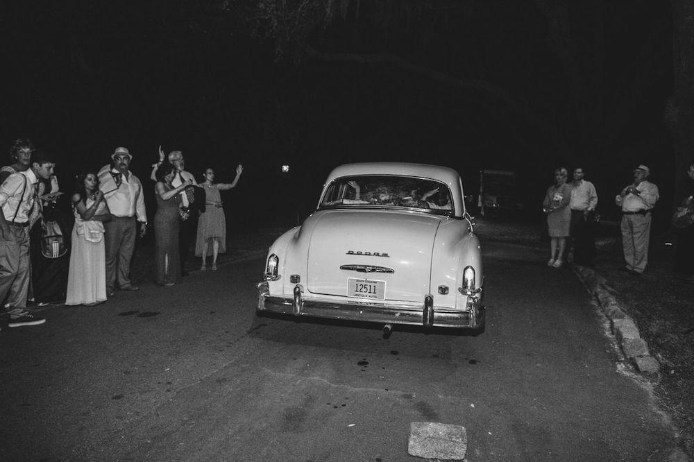 Getaway car from Lowcountry Valet & Shuttle Co. Photograph by Juliet Elizabeth.