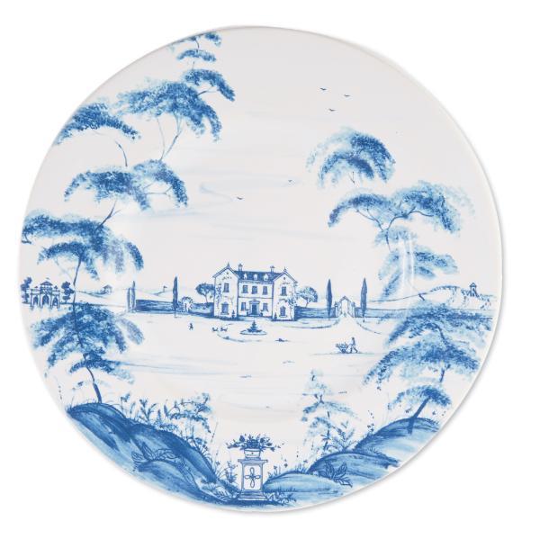 "Juliska's ""Country  Estate"" Dinner Plate.  Artist Deborah Sears offers up a delightful pastoral scene with this decal-transferred pattern that's a modern-day antique-in-the- making. GDC Home, $47  (11-inch plate)"