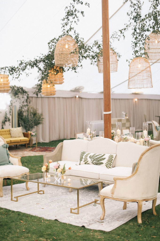 Across the property, multiple areas for dining, dancing, and lounging took five days for a team of 15 to set up. That the venue is family-owned allowed for maximum flexibility.