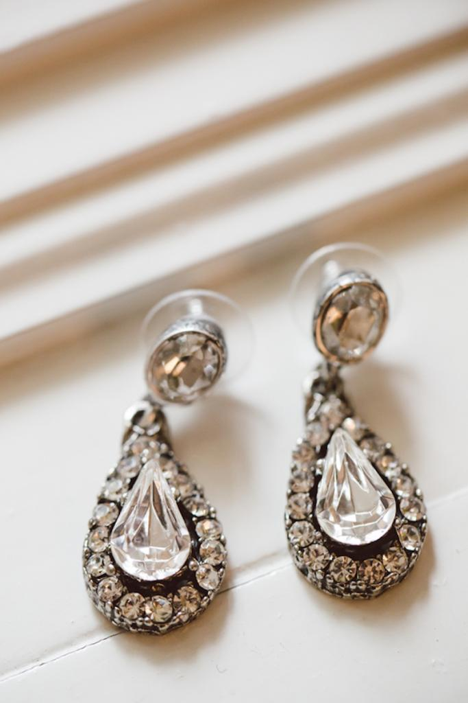 Earrings by Diana Warner. Image by amelia + dan photography.
