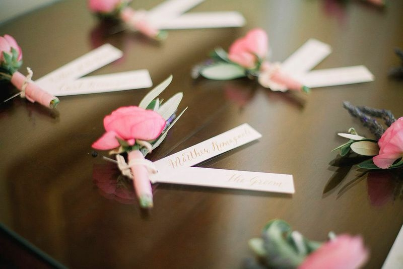 Boutonnieres by Branch Design Studio. Image by Timwill Photography.
